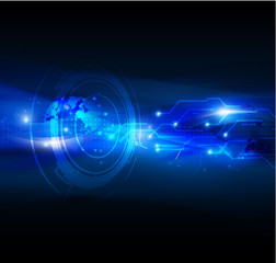 Technology abstract  futuristic digital background, Vector