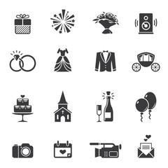 Black wedding icons