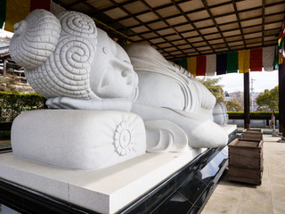 Sleeping Buddha at Koshoji temple in Uchiko
