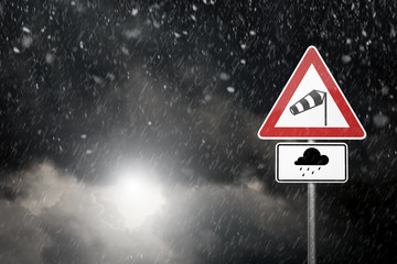 Bad Weather - Caution - Risk of Storm and Heavy Rain