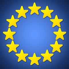 European Union cartoon sign