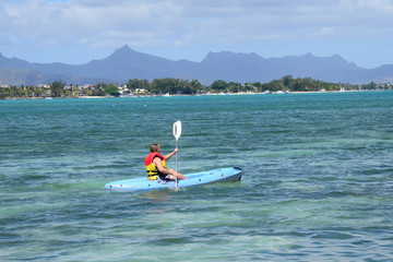 picturesque area of la Pointe aux canonniers in Mauritius