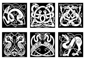 Animal and birds in celtic style