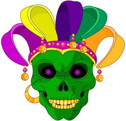 Mardi Gras skull