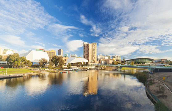 Adelaide city in Australia during the daytime