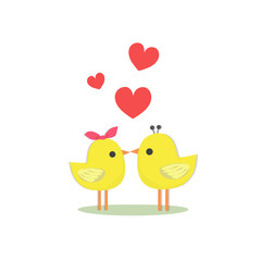 birds and heart