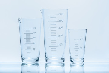 Set of conical beaker for measurements of different capacity