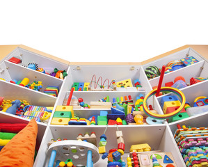 Shelf with toys