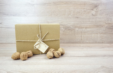 Eco gift box with walnuts