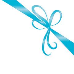Schleife blau diagonal