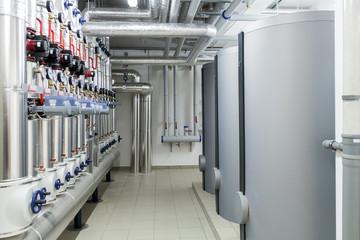Modern efficient heating system.
