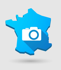 France map icon with a photo camera