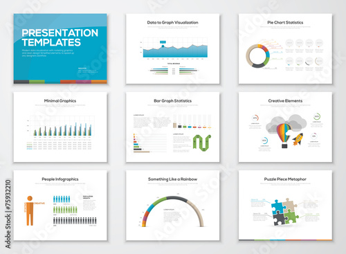 Presentation slide templates and business vector for Free antennas com projects template