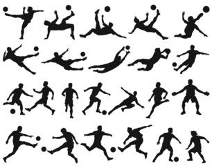 Soccer players vector silhouettes