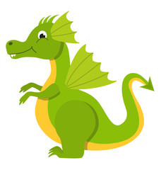 Dragon baby isolated vector illustration