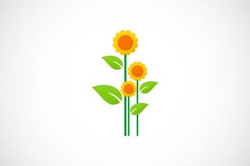 sunflower plant logo
