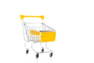 Shopping cart isolated on white background