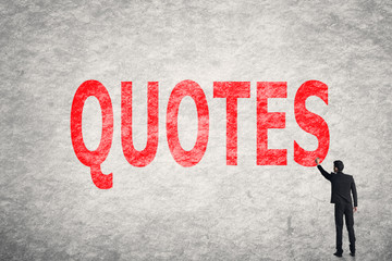 text on wall, Quotes