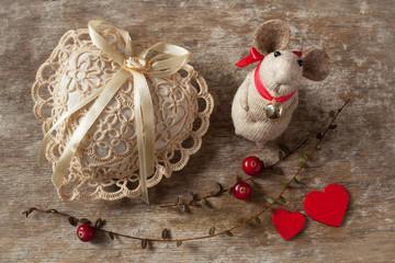 Valentine's Day heart background toy