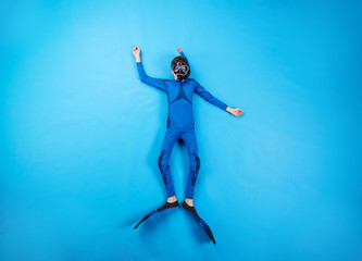 Child scuba divers