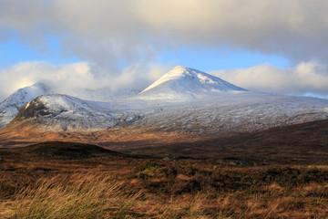 Snow covered mountains Glencoe, Scotland