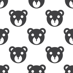 bear toy, vector seamless pattern .