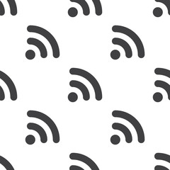 WiFi, vector seamless pattern .