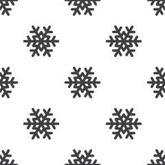 snowflake, vector seamless pattern .