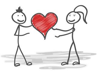 Sketch love heart