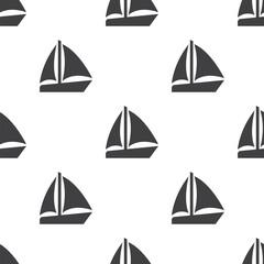 sail boat, vector seamless pattern
