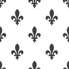 fleur-de-lys, vector seamless pattern .