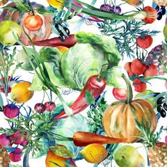Vegan Seamless Pattern