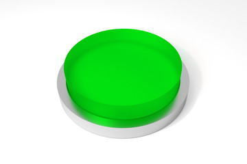 round green button on white surface