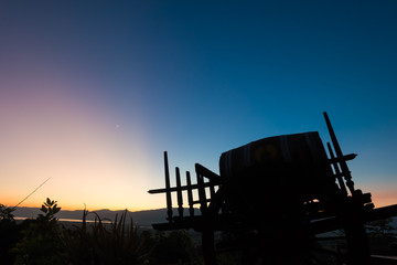 Sunset at Inle Lake Vineyard