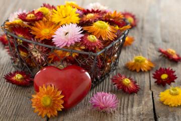 Blüten mit Herz