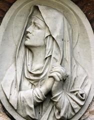 Virgin Mary in tears (statue)
