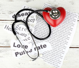 Decorative heart with stethoscope