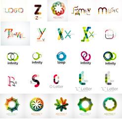 Logo collection, geometric business icon set