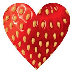 Strawberry hearts icon
