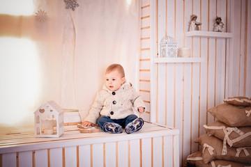 little baby boy portrait