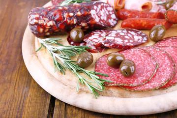 Fototapete - Assortment of sausages