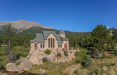 St. Malo's chapel in Allenspark near Rocky Mountains National Pa