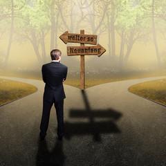 """Mann vor der Wahl zwischen """"weiter so"""" und Neuanfang"""