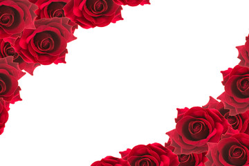 red roses frame background
