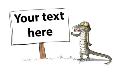 Lizard pointing your text here