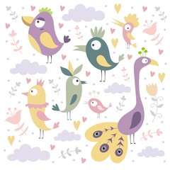 pattern kids birds