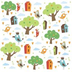 pattern birds for  kids