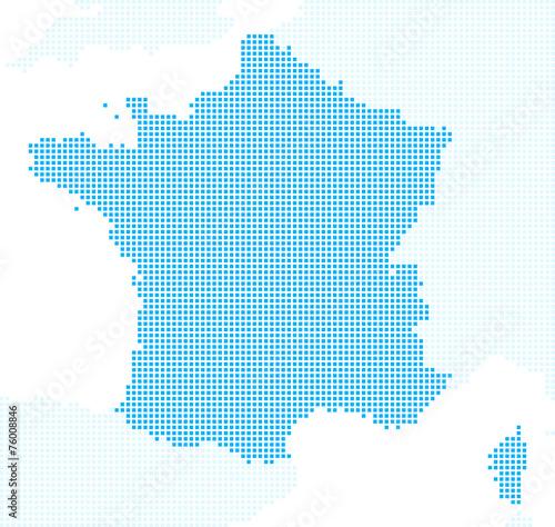 Carte De France En Pixels