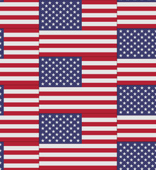 United States flag texture vector