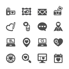 love and valentine icon set 8, vector eps10